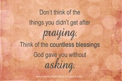 Don't think of the 