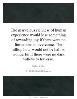 The marvelous richness of human 