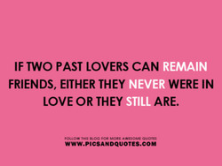 IF TWO PAST LOVERS CAN 