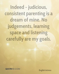 Indeed - judicious, 