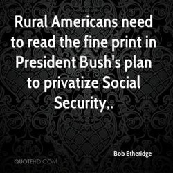 Rural Americans need 