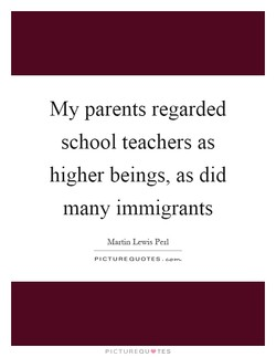 My parents regarded 