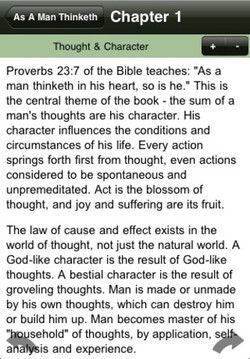 As A Man Thinketh Chapter 1 Thought & Char Proverbs 23:7 of the Bible teaches: