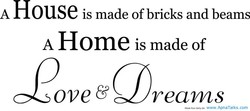 Ouse is made of bricks and beams 