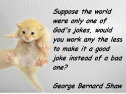 Suppose the world 