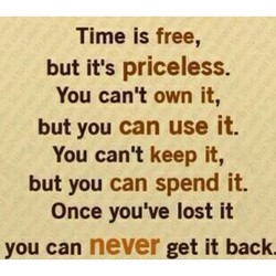 Time is free, 