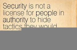 Security is not a 