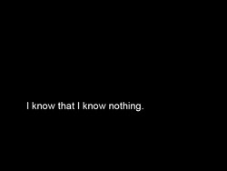 I know that I know nothing.