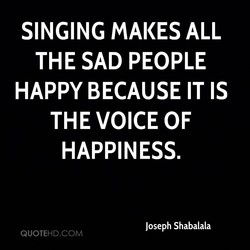 SINGING MAKES ALL 