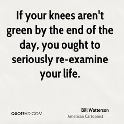 If your knees aren't 