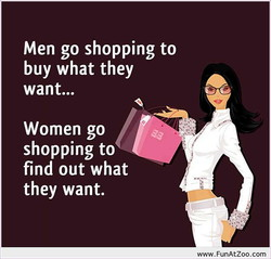 Men go shopping to 