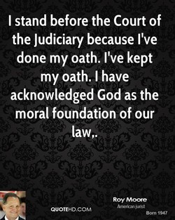 I stand before the Court of 
