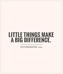 LITTLE THINGS MAKE 