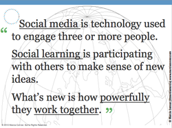 Social media is technology; used 