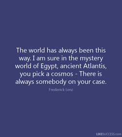 The world has always been this 