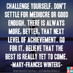 CHALLENGE YOURSELF. DON'T 