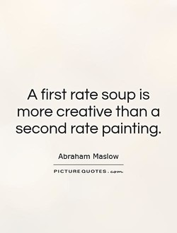 A first rate soup is 