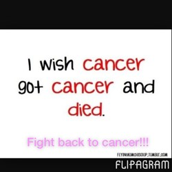 I Wigh cancer 