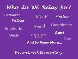Who WE Relay for? 
