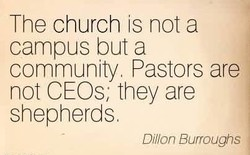 The church is not a 