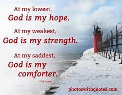 At my lowest, 