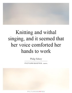 Knitting and withal 