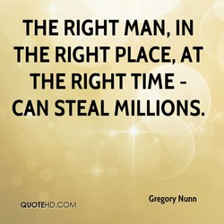 THE RIGHT MAN, IN 