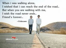 When i was walking alone, 