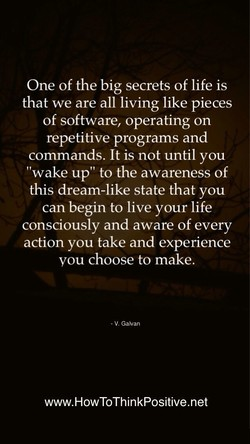 One of the big secrets of life is 