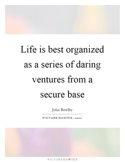 Life is best organized 