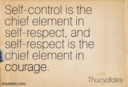 Self-control is the 