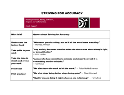 STRIVING FOR ACCURACY 