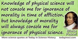 Knowledge of physical science will 