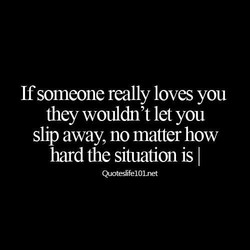 If someone really loves you 