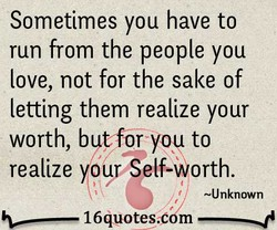 Sometimes you have to 