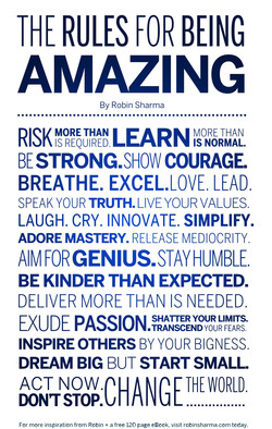 THE RULES FOR BEING 