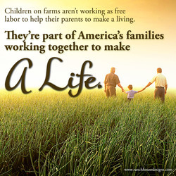 Children on farms aren't working as free 