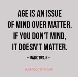 AGE IS AN ISSUE 