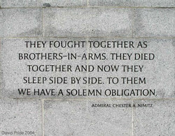 THEY FOUGHT TOGETHER AS 