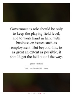 Government's role should be only 