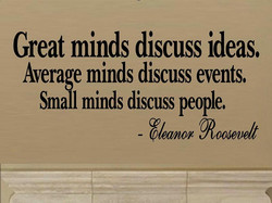 Great minds discuss ideas, 