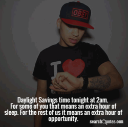Daylight Savings time tonight at 2am. 