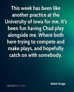 This week has been like 
