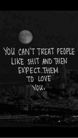 You CANT TREAT PEOPLE 