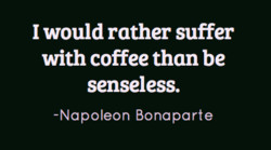 I would rather suffer 