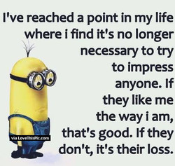 I've reached a point in my life 