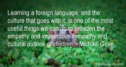 Learning a foreign language, and the 
