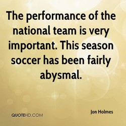 The performance of the 
