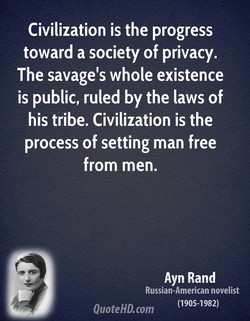 Civilization is the progress 