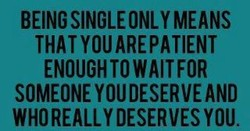 BEING SINGLE ONLY MEANS 